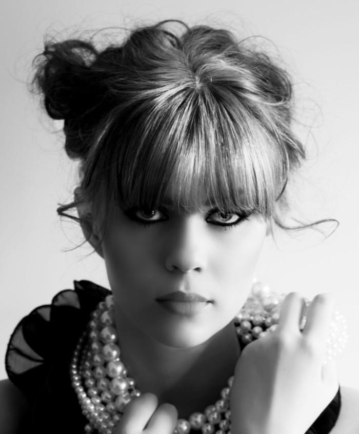 Marika Johansson. porträtt. Fotograf. Modell. Svartvit